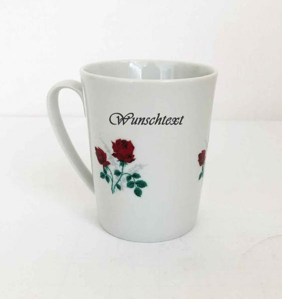 cup with roses